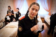Photographer Sergey Kozmin documents young girls from an elite military academy in Russia.