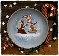 """Terrye French Designs """"Painting with Friends"""".: Candy Cane Moon Santa"""