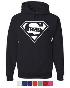 d75ee64c Super Dad Hoodie Funny Superhero Father's Day Sweatshirt
