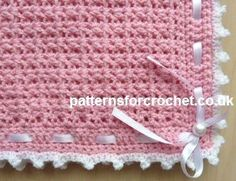 Free baby crochet patterns Pram Cover/Blanket USA