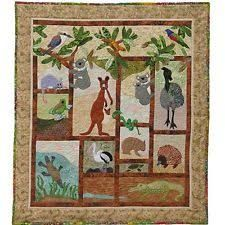What about this as a template with Montana animals/mountains/trees for the subjects? A Is For Aussie Animals Pattern By Freckles Collection , Animals Applique Patterns Applique Patterns, Applique Quilts, Quilt Patterns, Quilting Ideas, Animal Quilts, Australian Animals, Book Quilt, Freckles, Baby Quilts