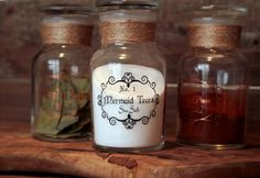 Apothecary Spice Bottle filled with seasoning