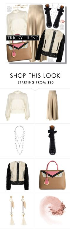"""Romantic High-Neck Blouses"" by miee0105 ❤ liked on Polyvore featuring River Island, Givenchy, Lucky Brand, Chloé, Fendi, NARS Cosmetics, women's clothing, women's fashion, women and female"