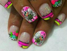 Pop Art Nails, Butterfly Nail, Toe Nail Designs, Toe Nails, Fall Nails, Diana, Beauty, Color, Lady Nails