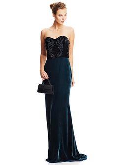 8f2268eb55f2 BADGLEY MISCHKA Beaded Velvet Sweetheart Gown http://vnlink.co/SW4eCFQ  Velvet