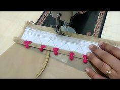 Potli Salwar Poncha Design making Chudidhar Neck Designs, Neck Designs For Suits, Blouse Neck Designs, Hand Designs, Sleeve Designs, Kurti Sleeves Design, Kurta Neck Design, Salwar Pattern, Stitching Dresses
