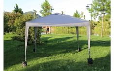 H4home Garden Gazebo No Side 3×3 Pop Up Marquee Canopy Tent Waterproof BBQ Grey Pop Up Marquee, Weight Bags, Sand Bag, Garden Gazebo, Canopy Cover, Wind And Rain, Canopy Tent, Steel Metal, Four Legged