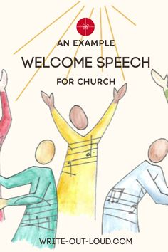 Here's a church welcome speech example. It's sincere, brief and simple. Use it as a template to prepare your own. Speech Writing Tips, Writing Strategies, Public Speaking Tips, Confidence Building, Out Loud, Welcome, Template, Teaching, Words