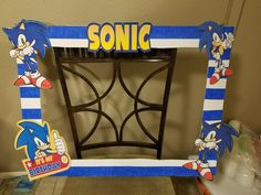 Sonic the hedgehog photo booth