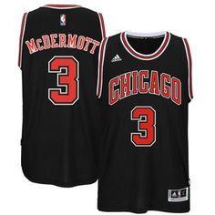 #3 Mcdermott Chicago Bulls jersey black (Heat applied)