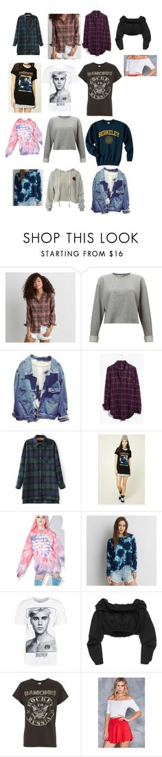 """""""sarah baska style essentials (pt.1)"""" by novaturient98 ❤ liked on Polyvore featuring American Eagle Outfitters, Miss Selfridge, Madewell, Forever 21, Jac Vanek, Boohoo, E L L E R Y, MadeWorn and Sans Souci"""