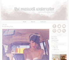 watercolour template blog - Recherche Google
