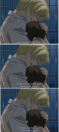 Haruhi and Tamaki (Ouran High School Host Club) AWEEE i fangirled at this part so hard