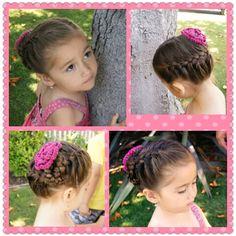 Little girl braid up do