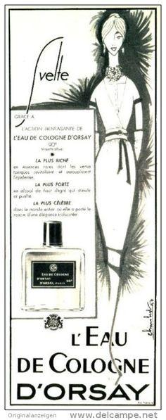 Original-Anzeige / Publicité 1957 - (en français) L'EAU DE COLOGNE D'ORSAY - ca. 110 x 320 mm