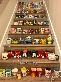 Mug stairs. I wouldn't want to break anything lol. Good luck walking on those! Mug stairs. I wouldn't want to break anything lol. Good luck walking on those! Disney Frozen, Disney Cups, Disney Snacks, Disney Food, Disney Kitchen, Disney Dining, Photos Folles, To Go Becher, Disney Coffee Mugs