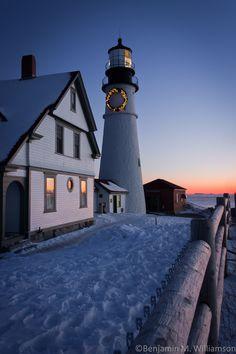 On the Fence by Benjamin Williamson, via 500px Portland Head Light, Cape Elizabeth, Maine