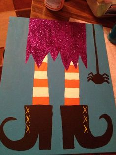 My halloween witch painting on canvas :)
