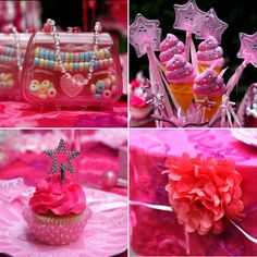 Pink Sparkle Princess Birthday Party on http://pizzazzerie.com I need to keep this in mind for the girls..