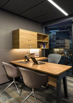 34 Ideas Modern Home Office Furniture Inspiration Office Furniture Inspiration, Modern Home Office Furniture, Office Furniture Design, Office Interior Design, Home Office Decor, Office Interiors, Modern Desk, Desk Inspiration, Interior Inspiration
