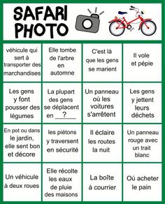 Cycling photo safari with diploma and list of clues Diy For Kids, Cool Kids, Bicycle Party, Safari Photo, Photo Games, Outdoor Activities For Kids, French Lessons, Educational Activities, Photos