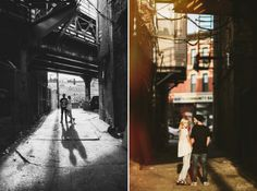 fun unique engagement photos. chicago wedding photographers. wicker park engagement. creative couples photography. chicago engagement photographers. urban engagement photos. www.qavenuephoto.com