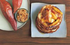 Buttermilk Pancakes with Maple Syrup Apples