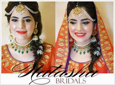 For this mehndi bride Natasha gave her gorgeous porcelain skin , paired with light gold eyes , a tangerine pout and dewy cheeks!