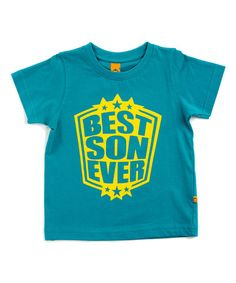 This Sea Green 'Best Son Ever' Tee - Infant, Toddler & Boys is perfect! #zulilyfinds