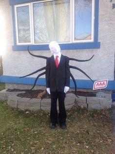 Homemade Slenderman halloween costume!