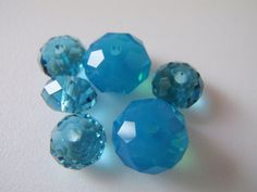 Swarovski Elements Crystal Blue Round Multifaceted by Spasojevich, $3.00