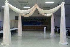 wedding fabric decorations | ... Decor Custom Balloon decor and Fabric Designs: Elegant Wedding Canopy