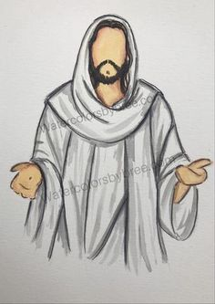 "watercolor pictures of Christ ""He Lives"" - Holy night - beautiful watercolor pictures of Jesus Christ - Jesus Christ Drawing, Jesus Drawings, Easy Drawings, Paintings Of Christ, Jesus Painting, Croix Christ, Jesus Sketch, Christian Drawings, Pictures Of Jesus Christ"