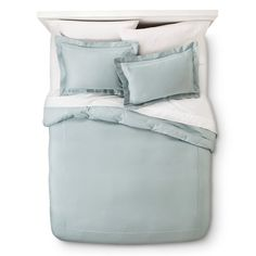 The Wrinkle Resistant Verona Embroidery Duvet Cover Set offers sleek, minimalist style. Woven from 100% cotton, this soft sateen bedding has a luxurious sheen that catches the light. Embroidered detailing further elevates the simple design, adding sophistication and subtle visual interest. Treated to resist wrinkles, this duvet cover set is conveniently machine-washable on cold, and it can be tossed in the dryer, too. Bring understated class to your home with this elegant bedding set.