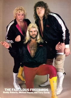 The Fabulous Freebirds Promo Photo [1987] Michael Hayes and the group, looking good in matching monogrammed jackets.