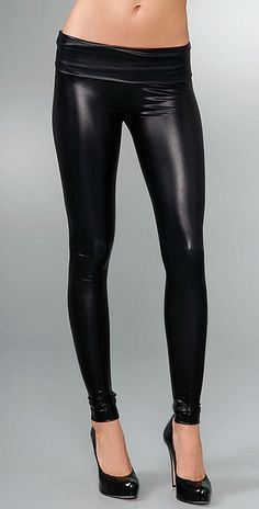 I own these too. Members Only-Liquid Fold Over Leggings