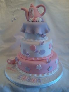 Delightful 1st birthday cake for a much loved girl