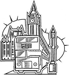 fashion coloring pages | PICTURES OF LONDON FOR COLORING « ONLINE COLORING