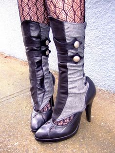 Find comfy, stylish enough boots, convert to steampunk. Enjoy.