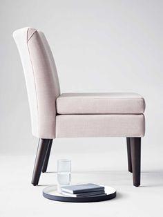 Blush slipper chair