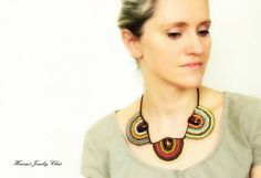 Ethnic+Necklace+Bead+Embroidered+Necklace+by+HeriniasJewelryChest,+$55.00