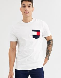 Browse online for the newest Tommy Hilfiger casey t-shirt in white styles. Shop easier with ASOS' multiple payments and return options (Ts&Cs apply). Tommy T Shirt, Tommy Hilfiger T Shirt, Future Boyfriend, Asos, Men Casual, Uni, Mens Tops, Shirts, Shopping