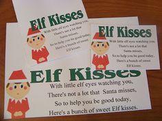 Elf Kisses Free Printable