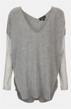 Topshop Mix Media Drop Shoulder Sweater available at Nordstrom