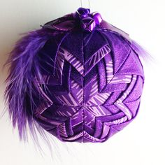 Purple Pizazz   Handmade Quilted Ornament by Traceritops on Etsy, $18.00