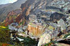 John Singer Sargent (1856-1925) In the Simplon Valley (c. 1910) oil on canvas 97 x 118 cm Harvard Art Museums