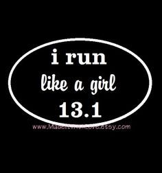 13.1 Half Marathon 26.2 Marathon I RUN like a by MREdesignsLLC, $8.00 marathon 262, car decal, half marathons