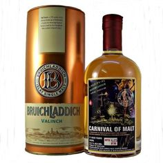 Bruichladdich 21 year old Valinch Carnival of Malt 52.5% 50cl Bruichladdich Valinch is only normally available to visitors of the distillery. Valinch is an old whisky term for a pipette used for drawing samples from a cask. This is number 625 of 700 matured in Bourbon cask and finished in Rum cask.