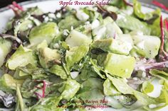 Easy Healthy Recipe – Clean Eating Apple Avocado Salad | Weight Loss Meals and Recipes - Clean Eating Recipes