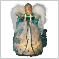 This Kurt Adler UL 10 Light Irish Angel Treetop is a beautiful and festive way to add to your holiday décor. This strawberry blonde angel wears an white and green shamrock-accent gown. The top Irish Christmas, Christmas Angels, Christmas Wreaths, Christmas Decorations, Christmas Ideas, Christmas Ornaments, Holiday Decorating, White Christmas, Christmas Holidays